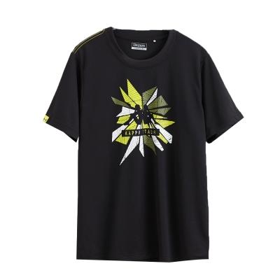 KAPPA義大利型男吸濕排汗速乾KOOL-DRY-彩色排汗衫-黑