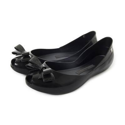 MELISSA-金屬夢幻蝴蝶結娃娃鞋-黑
