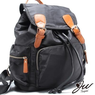 JW-後背包-英倫輕旅束口針釦掀蓋後背包-共二色