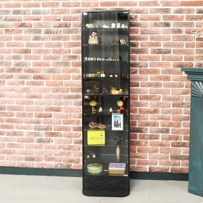 澄境 現代萬用180公分玻璃置物櫃(47.5x39.5x180cm)-DIY