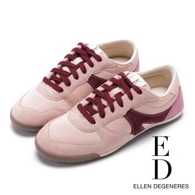 ED Ellen DeGeneres 輕量流線拼接休閒鞋-粉色
