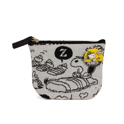 Sanrio SNOOPY歡樂露營系列緹花織布面紙化妝包