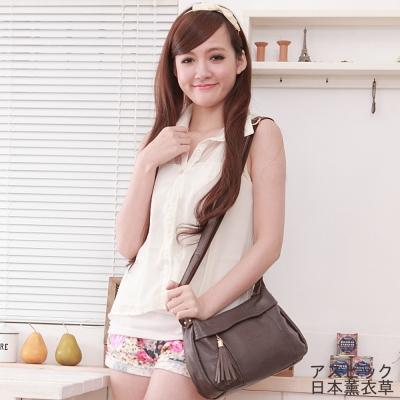 日本 薰衣草 - 斜背包 側背包 可愛甜美流蘇包 - 紫褐色