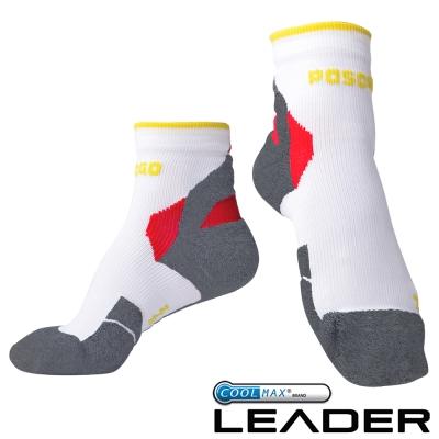 LEADER COOLMAX 女款 透氣中筒 戶外健行 機能運動襪 灰色