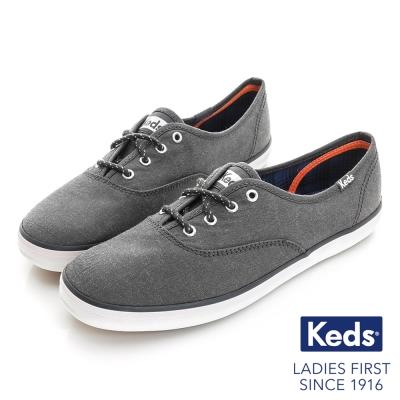 Keds 全天後機能綁帶休閒鞋-深灰色
