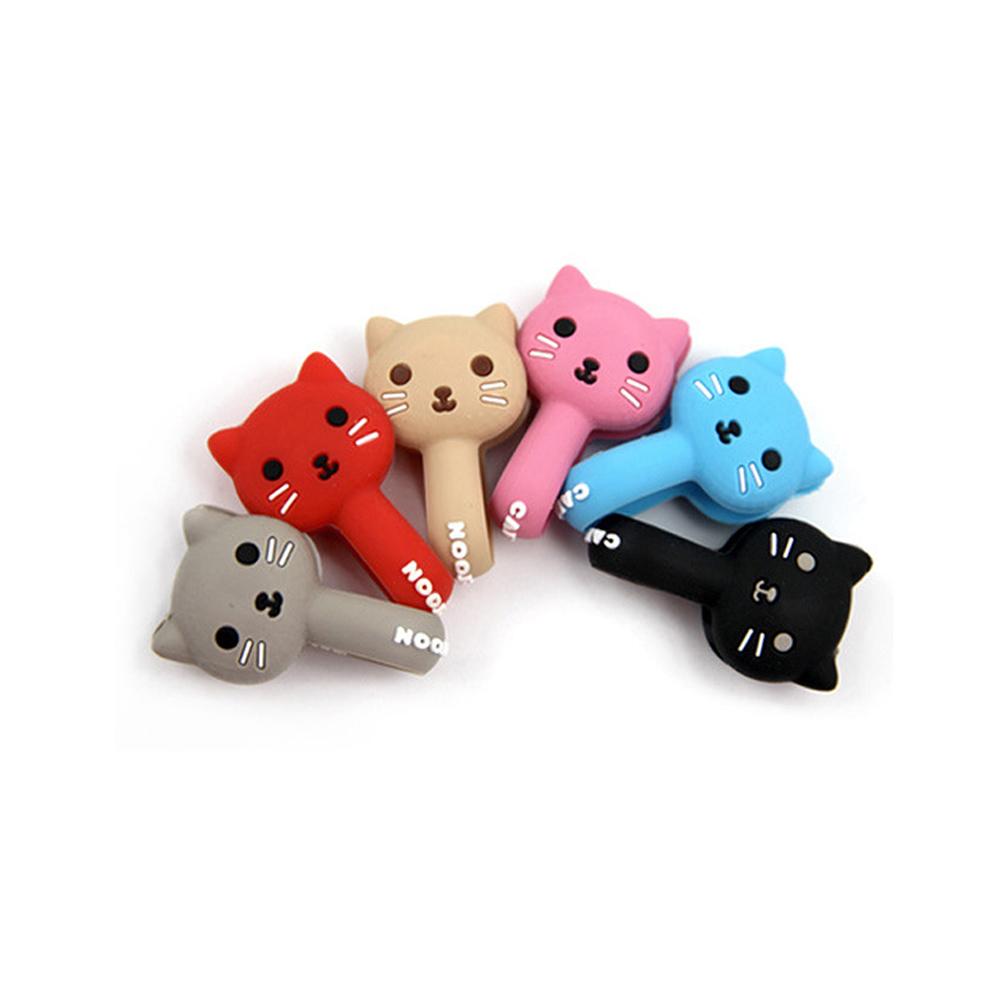 CORD HOLDEER 可愛貓咪鈕扣式捲線器