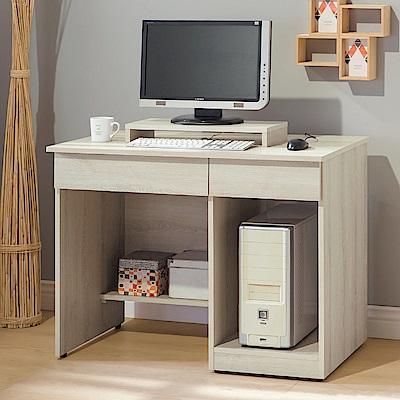 Boden-亞柏3.2尺電腦書桌/ 工作桌(贈電腦架)-96x54x75cm