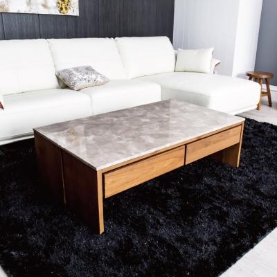 杰諾家居-班竹柚木石面茶几-130x60x42cm