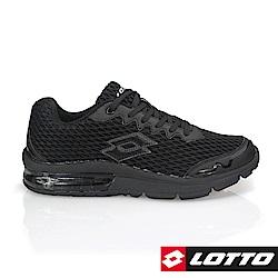 LOTTO 義大利 男 MAGLIA ARIA+避震氣墊跑鞋(黑)