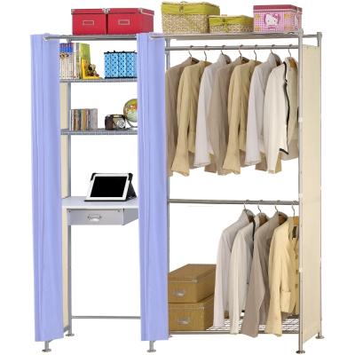 巴塞隆納-W2型90公分+E60公分電腦桌衣櫥架
