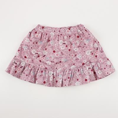 愛的世界 MYBABY 小兔花園彈性鬆緊帶荷葉短裙 4-8歲