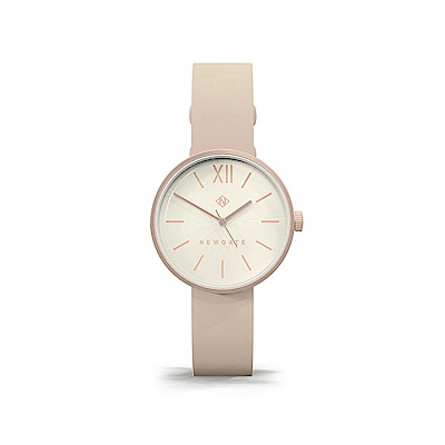 Newgate-ATOM-裸膚粉-皮革錶帶-32mm