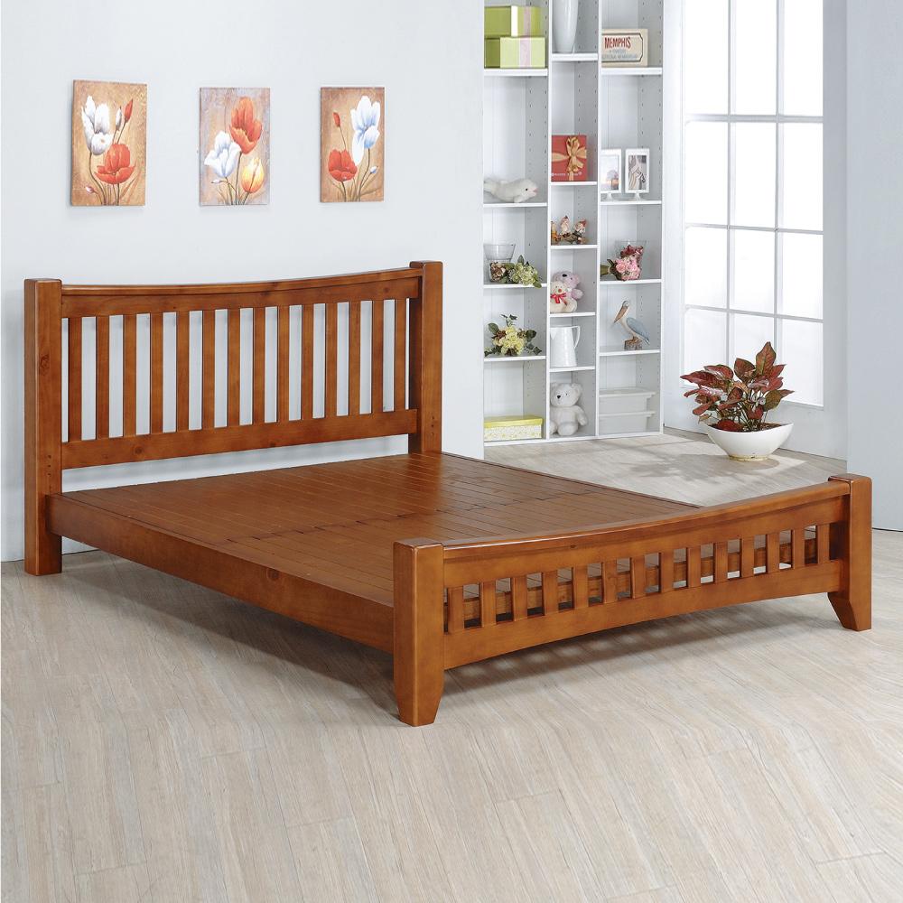 床架 單人3.5尺 貝絲實木床架 深柚木色 AS