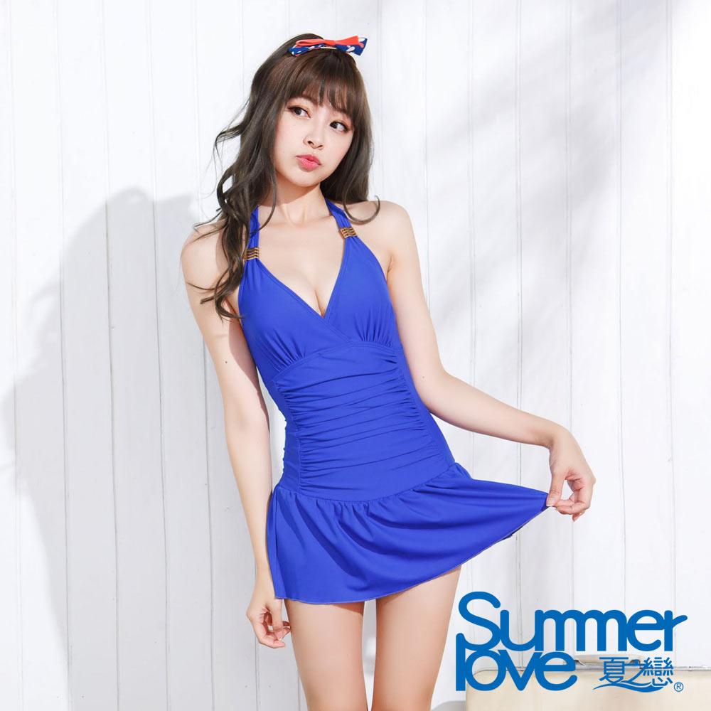 夏之戀SUMMER LOVE 甜美佳人連身帶裙泳裝