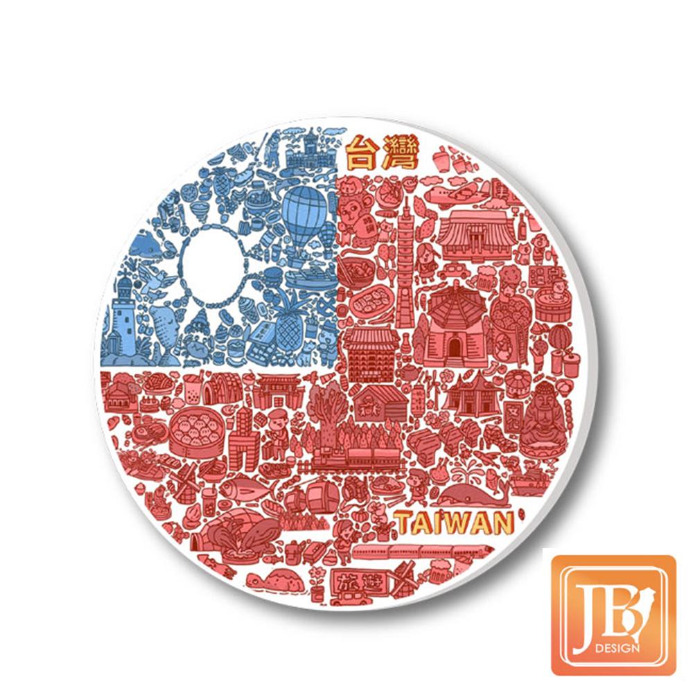 JB-Design陶瓷吸水杯墊729_國旗插畫