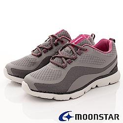 日本Moonstar戶外健走鞋-抗菌柔軟系列-1607深灰(女段)
