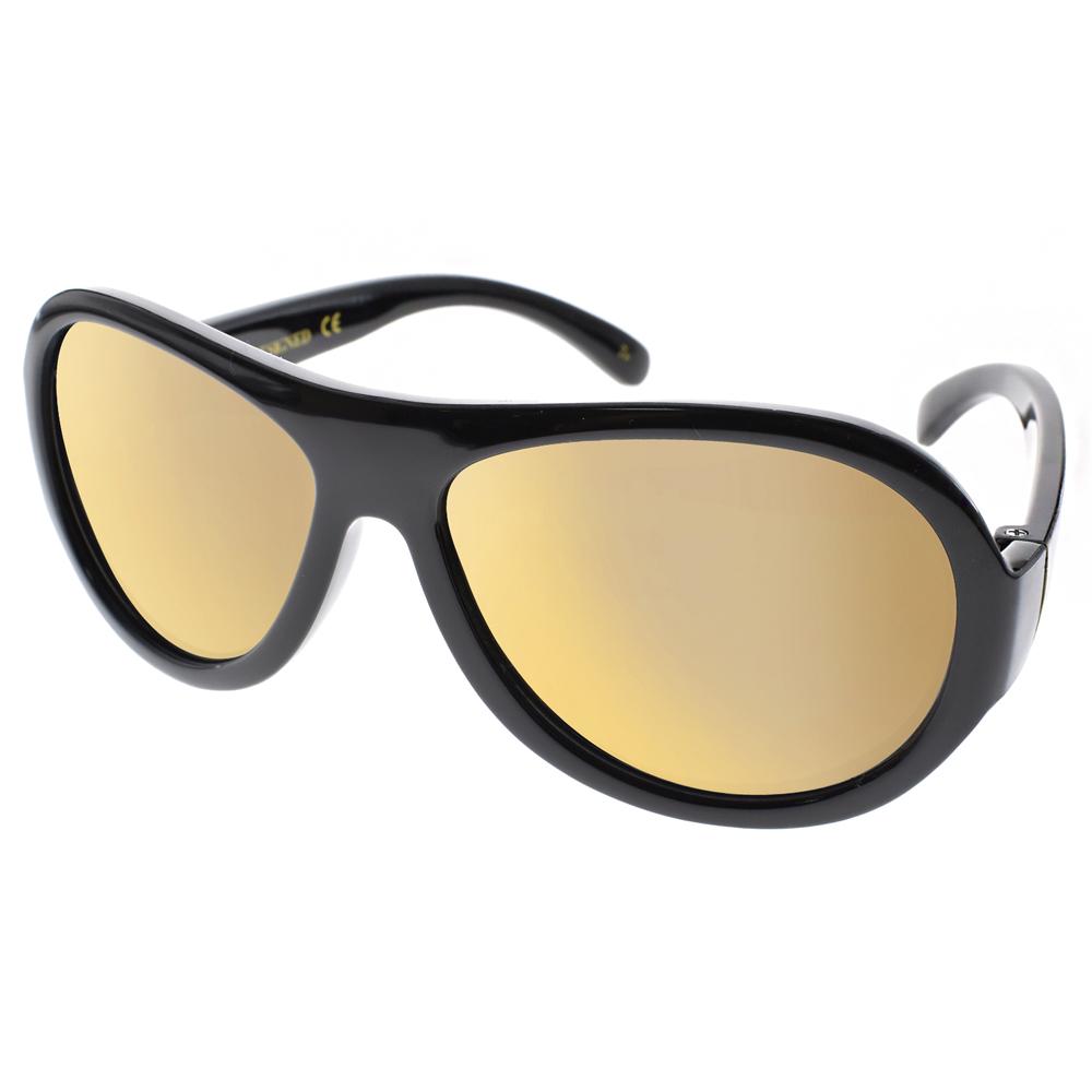 SHADEZ兒童太陽眼鏡無毒可彎曲黑粉唇印-黃水銀SH15SHZ7 C29