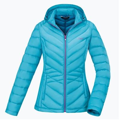 【ATUNAS 歐都納】女款輕量羽絨透氣防潑水保暖外套A3-G1752W湖藍