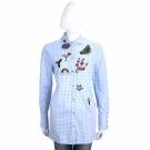 ERMANNO SCERVINO 藍色多樣補丁長版長袖襯衫