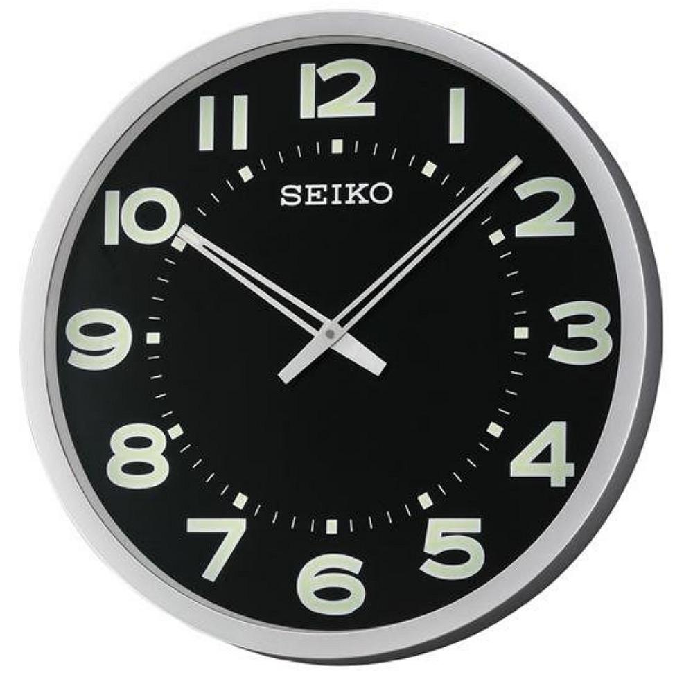 SEIKO 精工 大型辦公室掛鐘-黑x夜光/51cm