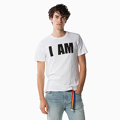 T恤 男裝 英文字母 白色 Pride限量系列 - Levis