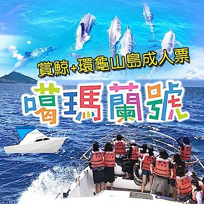 (宜蘭)噶瑪蘭號賞鯨+環龜山島成人票(2張)