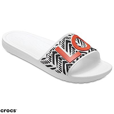 Crocs 卡駱馳 (女鞋) 茱兒涼拖合作款 205260-100
