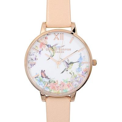 Olivia Burton 英倫復古精品手錶 花卉錶盤設 30/38mm(多款可選)