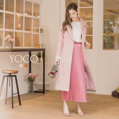東京著衣-yoco 韓國女孩最愛後開岔口袋長大衣-S.M.L(共二色)
