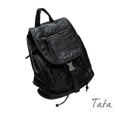 時尚休閒雙肩背包-附零錢包-TATA