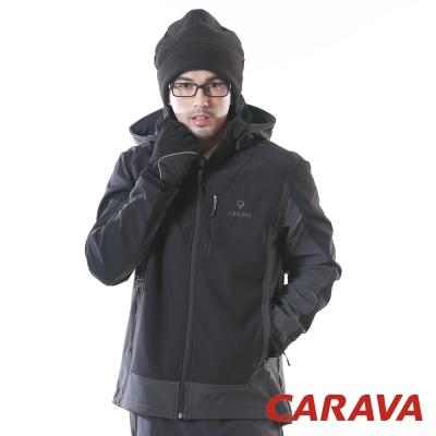 CARAVA 《軟殼防水禦寒外套》(黑)