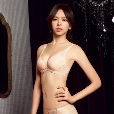 曼黛瑪璉-集中穩定V極線內衣-B-E罩杯-雲彩粉