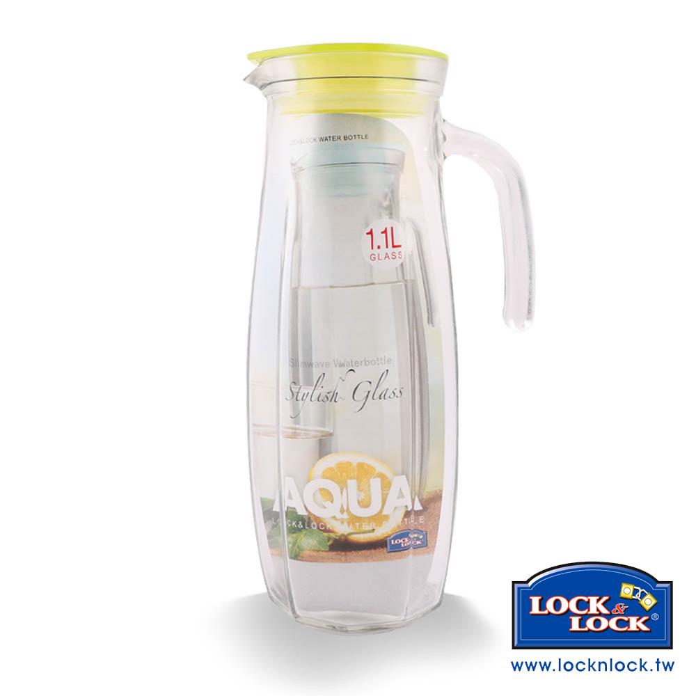 樂扣樂扣 AQUA系列沁涼玻璃水壺/1.1L(橄欖綠)(8H)