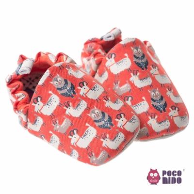 英國POCONIDO 手工嬰兒鞋_紅色小羊
