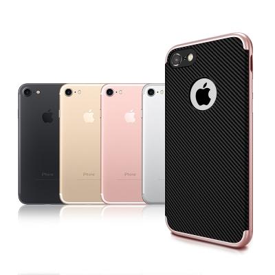 VXTRA iPhone 8/iPhone 7 防震電鍍雙料軟性手機殼 玫瑰金