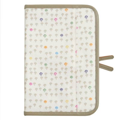 【Hoppetta】蘑菇母子手冊包 (香草白)