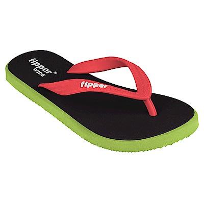 Fipper WIDE 天然橡膠拖鞋 BLACK-GREEN