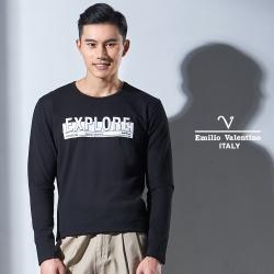 Emilio Valentino 彈性舒適休閒圓領T恤_黑色(15-7V9960)