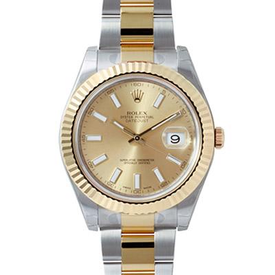 ROLEX 勞力士 Datejust II  116333  蠔式恆動日誌型半腕錶-金/ 41 mm