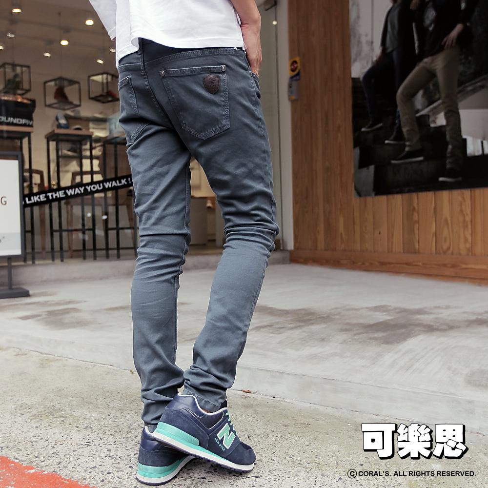 可樂思 韓系彈性合身刷洗色牛仔褲(a)-共五色