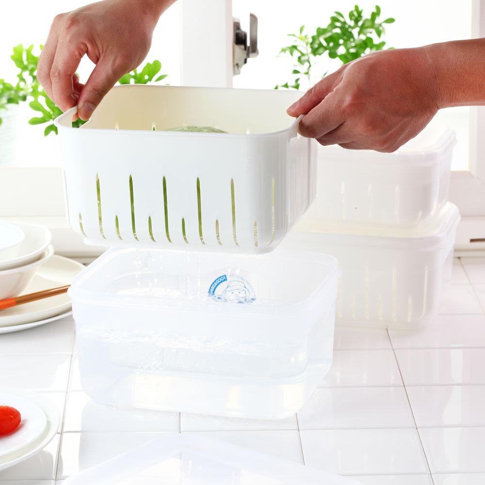 《廚用好手》瀝水保鮮盒(大+中+小)