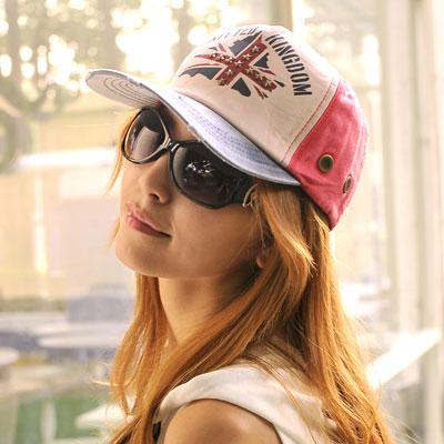 Aimee-Toff-絕配搭色英旗棒球帽-藍