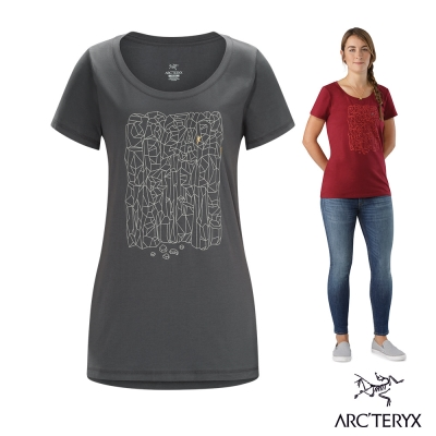 Arcteryx 始祖鳥 24系列 女 Block 有機棉 短袖T恤 灰