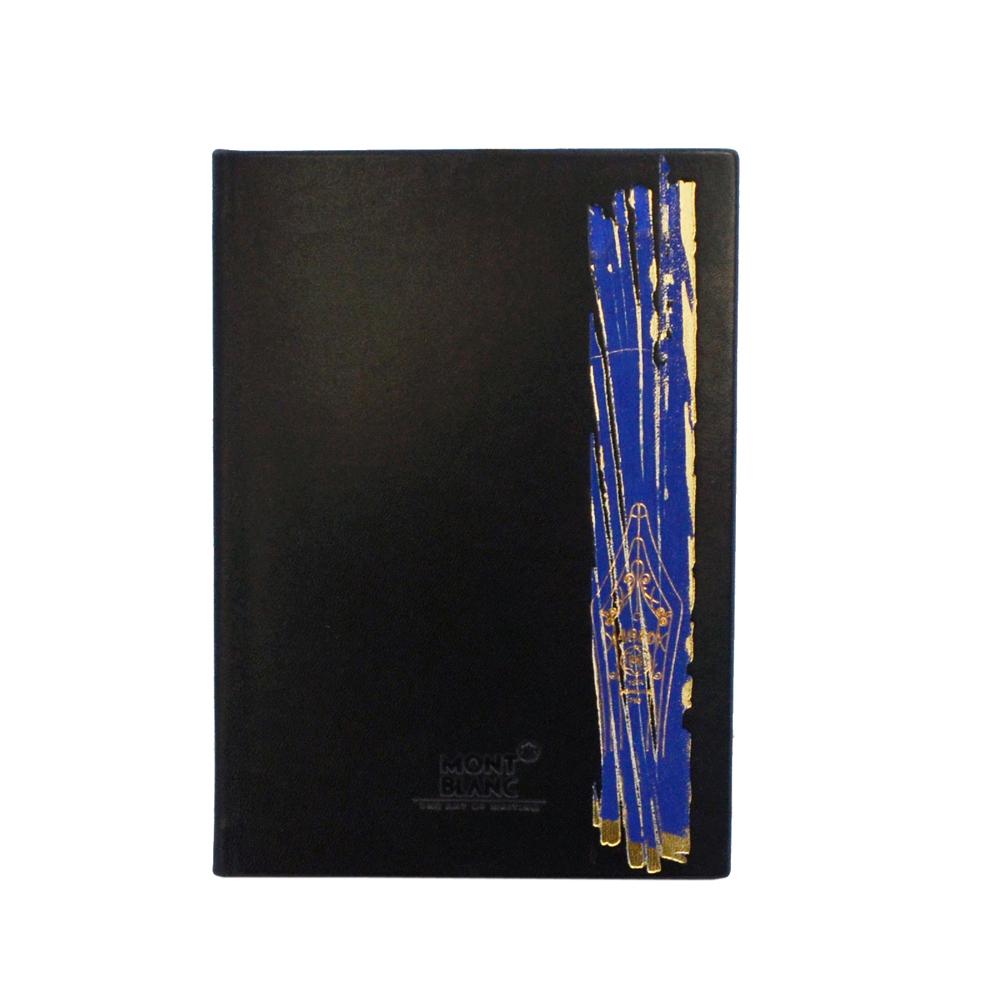 萬寶龍 藍羽毛通訊錄-黑色