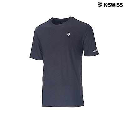 K-Swiss Space Dye Tech Tee排汗T恤-男-黑