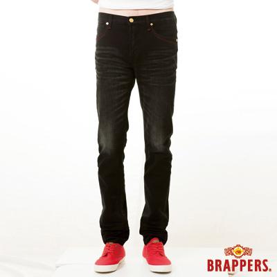 BRAPPERS 男款 男用彈性窄版直筒褲-黑