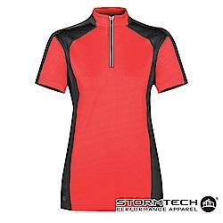 【加拿大STORMTECH】機能吸排防曬拉鍊立領衫IPZ-1W女-紅