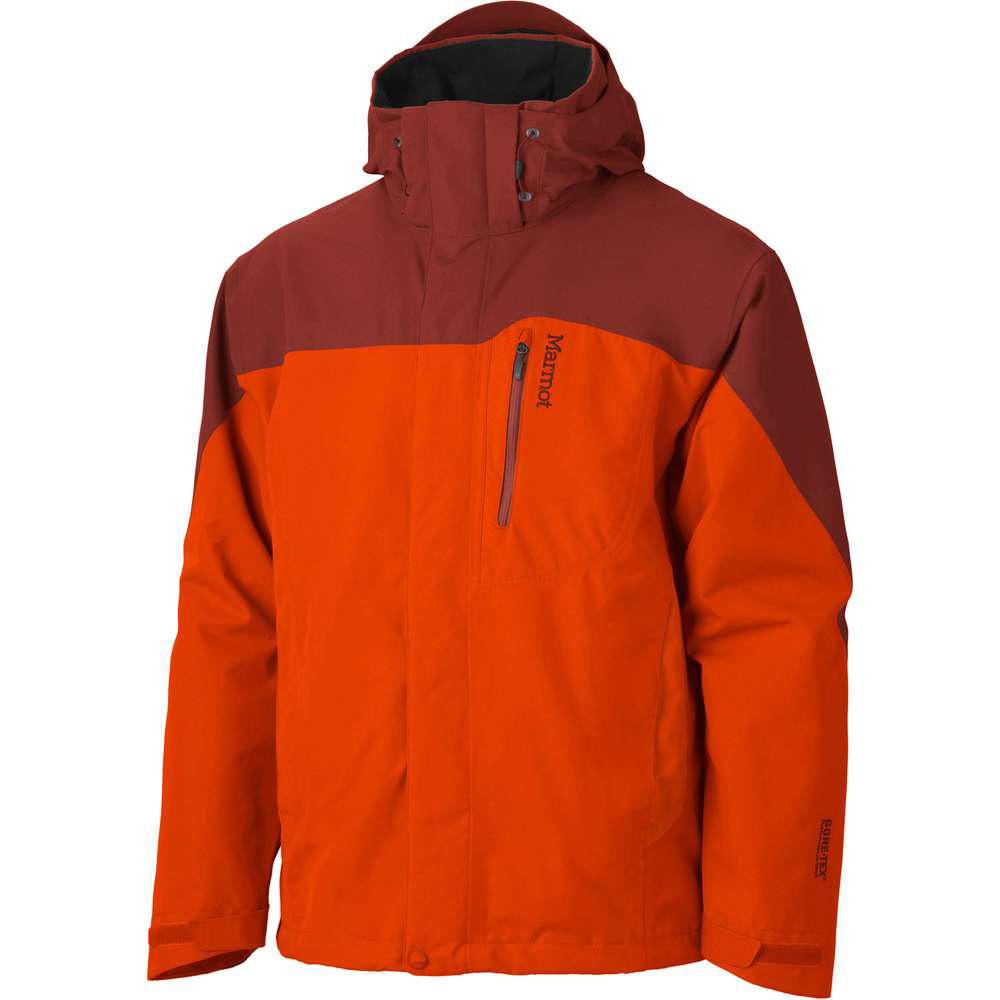 Marmot 30420 Palisades DN GTX 兩件式風雨衣 男 橘紅