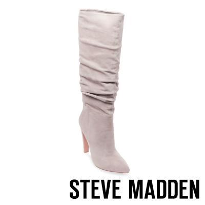 STEVE MADDEN-CARRIE-GREY 真皮尖頭高跟長筒套靴-灰色