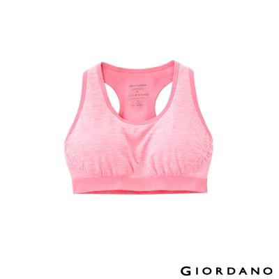 GIORDANO女裝無縫針織運動內衣-03-雪花派對粉